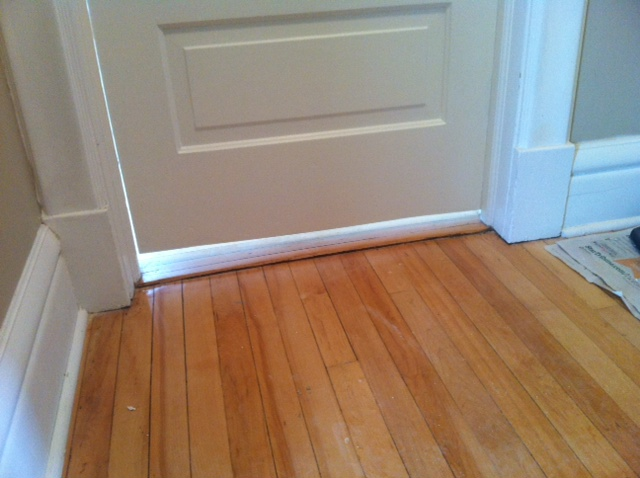 Before: Just slide that sandwich under the door!